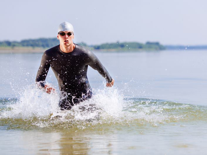Competition suits for triathletes at Schwimmsport Steiner in Vienna