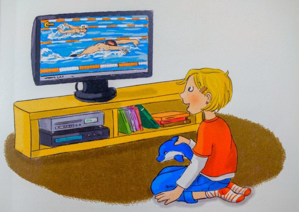 Lea möchte auch schwimmen lernen, und so meldet Mama sie zum Kinderschwimmkurs an.