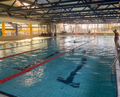 After a long time we are allowed to offer swimming courses in the Hütteldorfer Bad and the Döblinger Bad