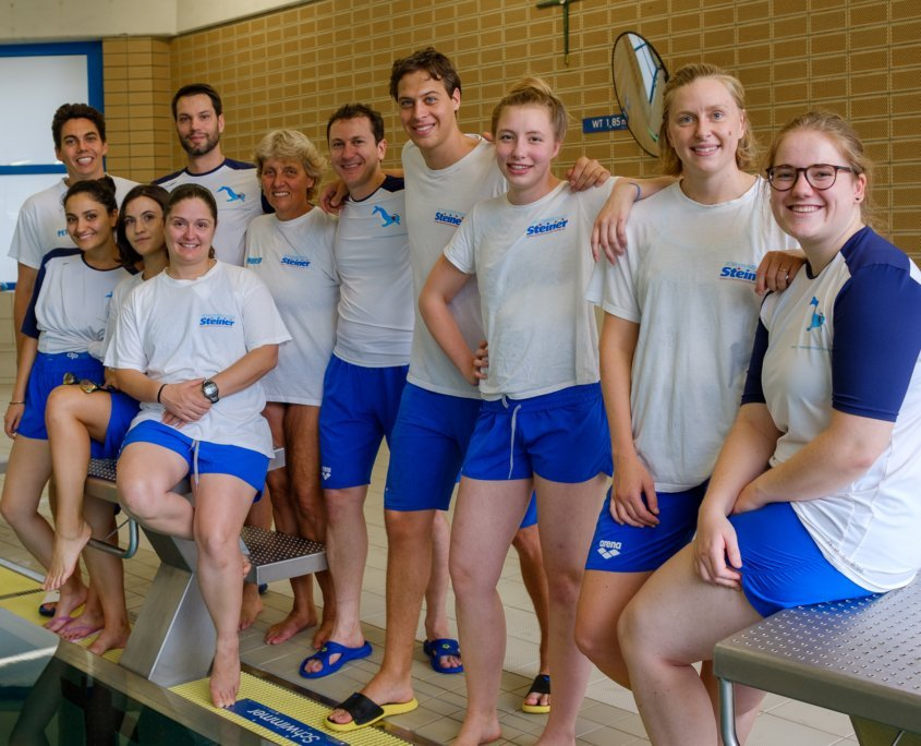 The Steiner Swimming School team has survived the long Corona break and is in good health. We are very pleased to be able to return to the Stadthallenbad tomorrow!