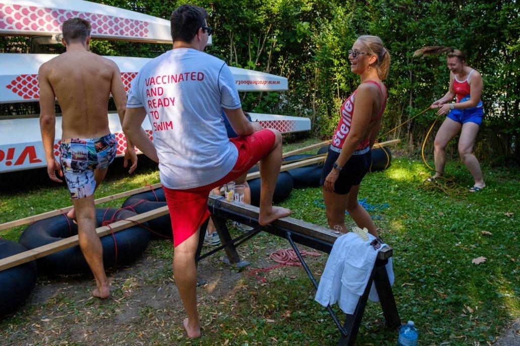 Teambuilding Event an der Alten Donau mit Schwimmschule & Schwimmsport Steiner